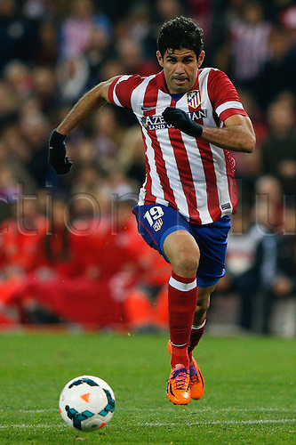 15.03.2014. Madrid, Spain. La Liga football. Atletico Madrid versus Espanyol at Vicente Calderon stadium.  Diego da Silva Costa (Brazilian midfielder of At. Madrid)