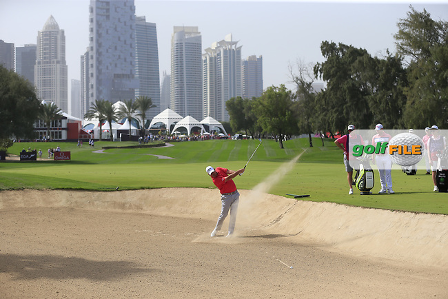 Thomas Bjorn (DEN) on the 1st fairway during Round 2 of the Omega Dubai Desert Classic, Emirates Golf Club, Dubai,  United Arab Emirates. 25/01/2019<br /> Picture: Golffile | Thos Caffrey<br /> <br /> <br /> All photo usage must carry mandatory copyright credit (© Golffile | Thos Caffrey)