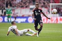 Fussball  1. Bundesliga  Saison 2015/2016  29. Spieltag  VfB Stuttgart  - FC Bayern Muenchen    09.04.2016 David Alaba (re, FC Bayern Muenchen) gegen Florian Klein (VfB Stuttgart)