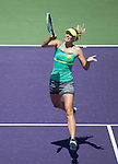 Maria Sharapova (RUS) defeats Jelena Jankovic (SRB), 6-2, 6-1, at the Sony Open being played at Tennis Center at Crandon Park in Miami, Key Biscayne, Florida on March 28, 2013