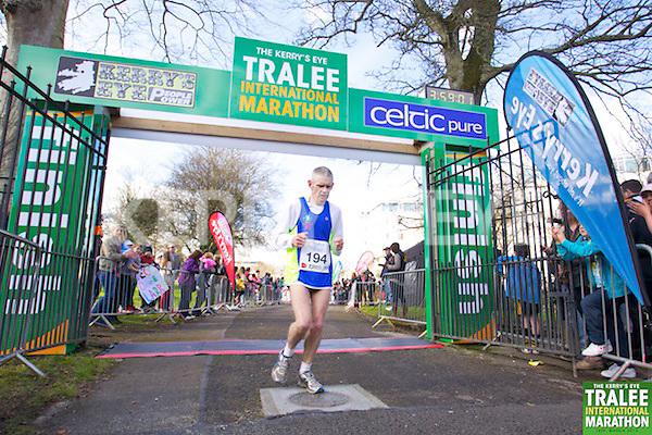 0194 Jarlath Fitzgerald pictured at the finish line of  the Kerry's Eye, Tralee International Marathon on Saturday March 16th 2013.