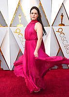 Daniela Vega arrives at the Oscars on Sunday, March 4, 2018, at the Dolby Theatre in Los Angeles. (Photo by Jordan Strauss/Invision/AP)