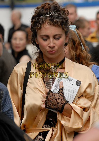 "CAST MEMBER.on the set of ""Dorian Gray"" which was filming inside Cafe De Paris, Coventry Street, London, August 20th 2008..half length costume period drama film movie film set filmset lace glove actor extra tiara.CAP/IA.©Ian Allis/Capital Pictures"