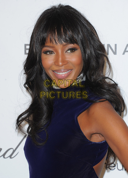 Naomi Campbell.The 21st Annual Elton John AIDS Foundation Academy Awards Viewing Party held at The City of West Hollywood Park in West Hollywood, California, USA..February 24th, 2013.oscars headshot portrait black midnight navy blue sleeveless  .CAP/DVS.©DVS/Capital Pictures. Oscars