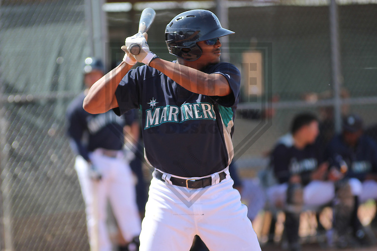 PEORIA - March 2013: Francisco Martinez (63) of the Seattle Mariners during a Spring Training game against the Cincinnati Reds on March 23, 2013 at Peoria Sports Complex in Peoria, Arizona.  (Photo by Brad Krause). .