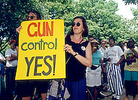 Brooklyn Residents rally in a call for stricter gun control laws, Prospect Park