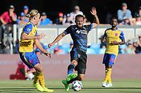 San Jose, CA - Saturday July 29, 2017: Marco Ureña during a Major League Soccer (MLS) match between the San Jose Earthquakes and Colorado Rapids at Avaya Stadium.