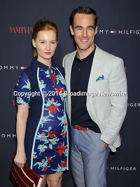 Pictured: James Van Der Beek and wife Kimberly Van Der Beek<br /> Mandatory Credit &copy; Gilbert Flores/Broadimage<br /> Tommy Hilfiger and Vanity Fair Celebrate the the To Tommy from Zooey Collaboration wth Zooey Deschanel<br /> <br /> 4/9/14, West Hollywood, California, United States of America<br /> <br /> Broadimage Newswire<br /> Los Angeles 1+  (310) 301-1027<br /> New York      1+  (646) 827-9134<br /> sales@broadimage.com<br /> http://www.broadimage.com