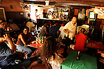 Friendly, local ambiance of the Whiskey Bar in Cartagena's old district.