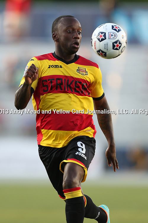20 April 2013: Fort Lauderdale's Jemal Johnson (ENG). The Carolina RailHawks played the Fort Lauderdale Strikers at WakeMed Stadium in Cary, North Carolina in a North American Soccer League Spring 2013 Season regular season game.