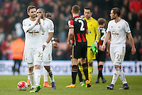 Angel Rangel of Swansea City applauds the fans after the Barclays Premier League match between AFC Bournemouth and Swansea City played at The Vitality Stadium, Bournemouth on March 12th 2016