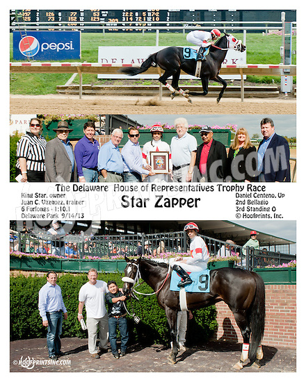 Star Zapper winning The First State Dash at Delaware Park on 9/14/13