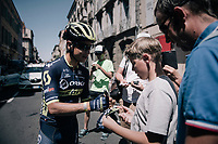 Johan Esteban Chaves (COL/ORICA-Scott) signing autographs pre-race<br /> <br /> 104th Tour de France 2017<br /> Stage 16 - Le Puy-en-Velay &rsaquo; Romans-sur-Is&egrave;re (165km)