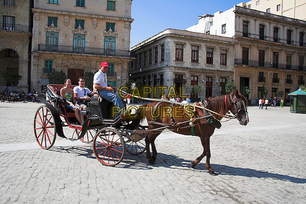 Horse and carriage, Plaza de San Francisco, Havana, La Habana Vieja, Cuba