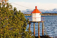 Norway, Stavanger. Small lighthouse.