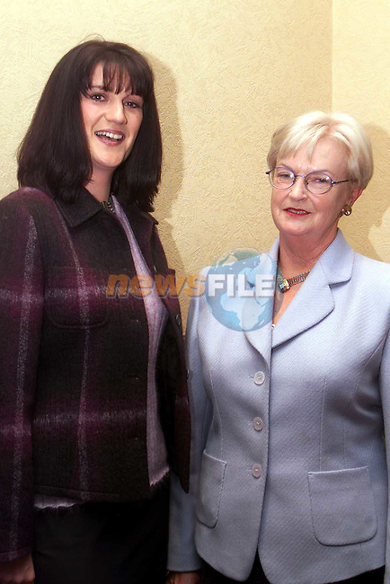 Orla Briscoe and Mary Smith from Termonfeckin at the Fashion Show in aid of Drogheda Hospice which was held in the Bridgeford..Picture: Paul Mohan/Newsfile