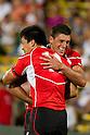 (L-R) Takehisa Usuzuki,  James Arlidge (JPN), AUGUST 13, 2011, Rugby : International test match between Italy 31-24 Japan at Dino Manuzzi Stadium, Cesena, Italy, (Photo by Enrico Calderoni/AFLO SPORT) [0391]