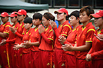 Players of China after their ICC 2016 Women's World Cup Asia Qualifier match between China and Nepal on 11 October 2016 at the Kowloon Cricket Club in Hong Kong, China. Photo by Marcio Machado / Power Sport Images