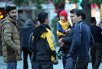 2016 03 09 Migrants in Victoria Square, Athens, Greece