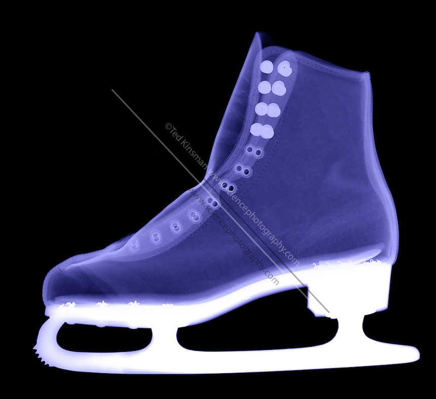 An X-ray of an ice skate.