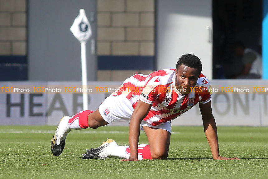 John Obi Mikel of Stoke City and formerly Chelsea warms up ahead of kick-off during Millwall vs Stoke City, Sky Bet EFL Championship Football at The Den on 12th September 2020
