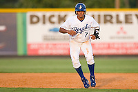 Yowill Espinal #7 of the Burlington Royals takes his lead off of first base versus the Elizabethton Twins at Burlington Athletic Park July 19, 2009 in Burlington, North Carolina. (Photo by Brian Westerholt / Four Seam Images)