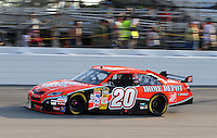 May 2, 2008; Richmond, VA, USA; NASCAR Sprint Cup Series driver Tony Stewart during qualifying for the Dan Lowry 400 at the Richmond International Raceway. Mandatory Credit: Mark J. Rebilas-US PRESSWIRE