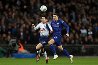 Son Heung-Min of Tottenham Hotspur and Andreas Christensen of Chelsea during Tottenham Hotspur vs Chelsea, Caraboa Cup Football at Wembley Stadium on 8th January 2019
