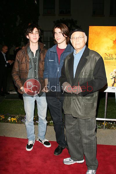 """Norman Lear and family<br />at the premiere of """"Neil Young: Heart of Gold"""". Paramount Theater, Los Angeles, CA 02-07-06<br />Dave Edwards/DailyCeleb.com 818-249-4998"""