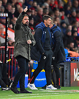 Norwich City Manager Daniel Farke gives the thumbs up during AFC Bournemouth vs Norwich City, Caraboa Cup Football at the Vitality Stadium on 30th October 2018