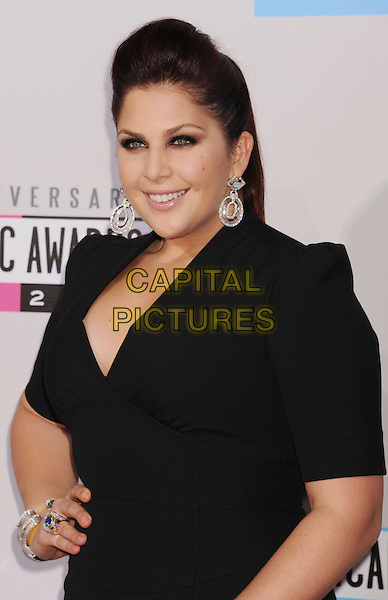 Hillary Scott, Lady Antebellum.40th Anniversary American Music Awards - Arrivals held at Nokia Theatre L.A. Live, Los Angeles, California, USA..November 18th, 2012.AMA AMAs half length black silver earrings dress hand on hip.CAP/ROT/TM.©Tony Michaels/Roth Stock/Capital Pictures