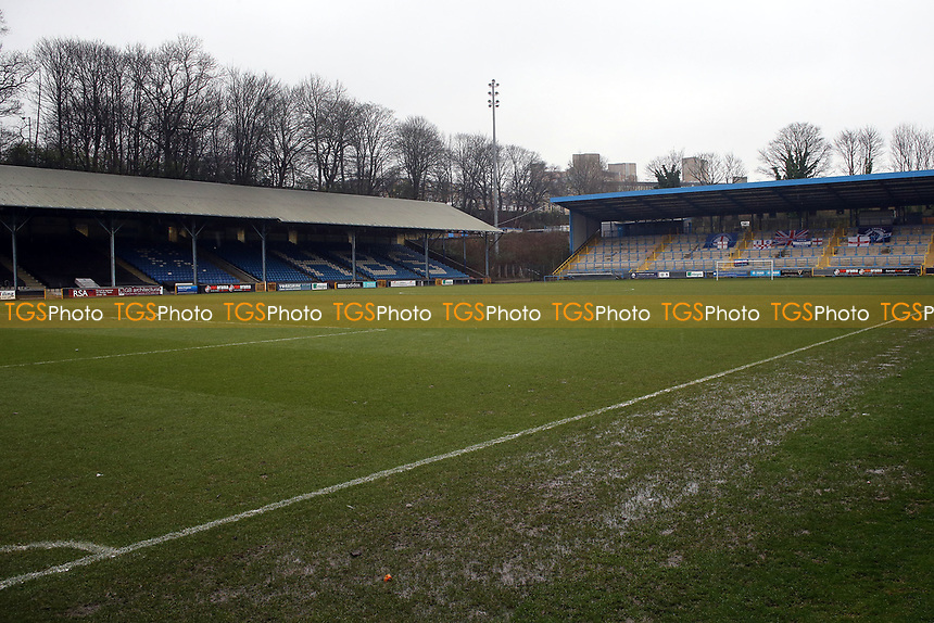 The pitch at The Shay as the game is postponed  before FC Halifax Town vs Dagenham & Redbridge, Vanarama National League Football at The Shay on 3rd February 2018