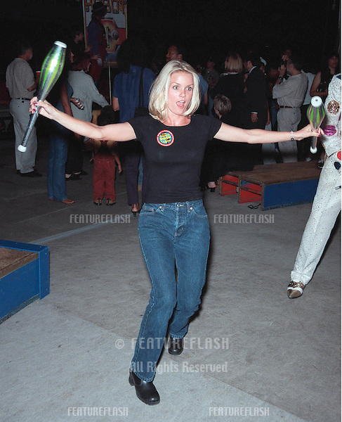 "21JUL99: ""Baywatch"" star KELLY PACKARD at the Los Angeles opening night of Ringling Bros and Barnum & Bailey Circus. The evening was to benefit the Cystic Fibrosis Foundation.                           .© Paul Smith / Featureflash"