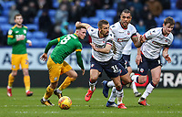 Bolton Wanderers' Gary O'Neil breaks<br /> <br /> Photographer Andrew Kearns/CameraSport<br /> <br /> The EFL Sky Bet Championship - Bolton Wanderers v Preston North End - Saturday 9th February 2019 - University of Bolton Stadium - Bolton<br /> <br /> World Copyright &copy; 2019 CameraSport. All rights reserved. 43 Linden Ave. Countesthorpe. Leicester. England. LE8 5PG - Tel: +44 (0) 116 277 4147 - admin@camerasport.com - www.camerasport.com