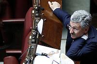Massimo D'Alema.Roma 05/07/2012 Camera dei Deputati - Informativa urgente del Governo sugli esiti del Consiglio europeo del 28-29 giugno.Foto Serena Cremaschi Insidefoto