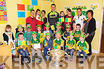 Kerry Star Shane Enright  with the Sam Maguire cup arrived at Brookview Childcare  on Tuesday