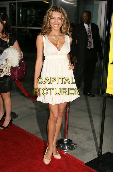 "INDIA DE BEAUFORT .""Run Fat Boy Run"" Los Angeles Premiere held at the ArcLight Cinemas, Hollywood, California , USA, .24 March 2008..full length white dress.CAP/ADM/RE.©Russ Elliot/Admedia/Capital PIctures"