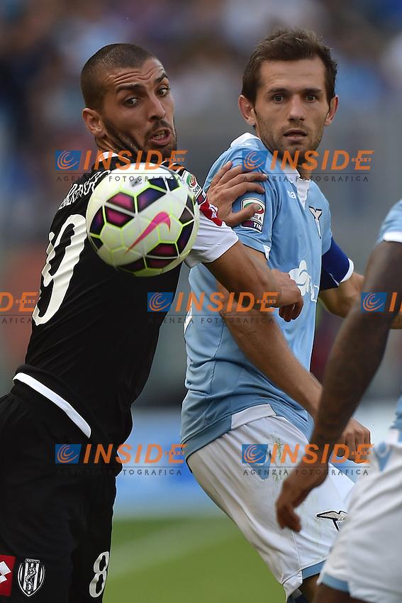 Guido Marilungo Cesena, Senad Lulic Lazio <br /> Roma 14-09-2014 Stadio Olimpico, Football Calcio Serie A Lazio - Cesena. Foto Andrea Staccioli / Insidefoto