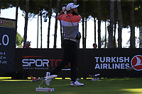 Andrew Johnston (ENG) tees off the 10th tee during Thursday's Round 1 of the 2018 Turkish Airlines Open hosted by Regnum Carya Golf &amp; Spa Resort, Antalya, Turkey. 1st November 2018.<br /> Picture: Eoin Clarke | Golffile<br /> <br /> <br /> All photos usage must carry mandatory copyright credit (&copy; Golffile | Eoin Clarke)