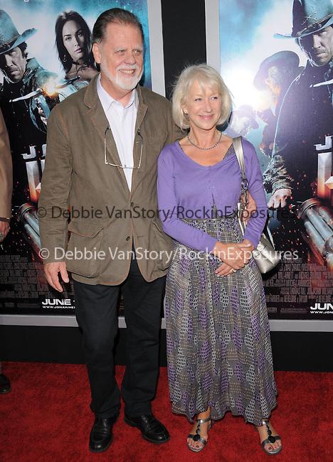 Helen Mirren & Taylor Hackford at the Warner Bros. Pictures Special Screening of Jonah Hex in Hollywood, California on June 17,2010                                                                               © 2010 Debbie VanStory / Hollywood Press Agency