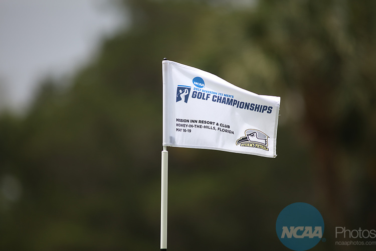 HOWEY IN THE HILLS, FL - MAY 19: A Championship flag blows during the Division III Men's Golf Championship held at the Mission Inn Resort and Club on May 19, 2017 in Howey In The Hills, Florida. (Photo by Cy Cyr/NCAA Photos via Getty Images)