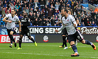 Bolton Wanderers' Adam Le Fondre celebrates scoring a penalty<br /> <br /> Photographer Andrew Kearns/CameraSport<br /> <br /> The EFL Sky Bet Championship - Bolton Wanderers v Leeds United - Sunday 6th August 2017 - Macron Stadium - Bolton<br /> <br /> World Copyright &copy; 2017 CameraSport. All rights reserved. 43 Linden Ave. Countesthorpe. Leicester. England. LE8 5PG - Tel: +44 (0) 116 277 4147 - admin@camerasport.com - www.camerasport.com