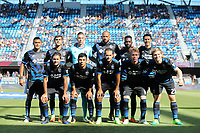 San Jose, CA - Saturday July 29, 2017: San Jose Earthquakes Starting Eleven prior to a Major League Soccer (MLS) match between the San Jose Earthquakes and Colorado Rapids at Avaya Stadium.