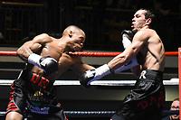 Daniel Egbunike (black shorts) defeats Ivan Godor during a Boxing Show at York Hall on 14th April 2018