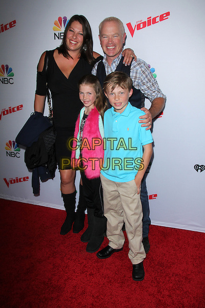 Neal McDonough, Ruve McDonough and kids Attending &igrave;The Voice&icirc; Spring Break Concert At The Pacific Design Center on April 23, 2015 in West Hollywood, California. <br /> CAP/MPI/DC/DE<br /> &copy;DE/DC/MPI/Capital Pictures
