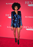 NEW YORK, NY - JANUARY 24: Imaan Hammam at the Revlon Live Boldly launch at Skylight Modern on January 24, 2018 in New York City. Credit: John PalmerMediaPunch