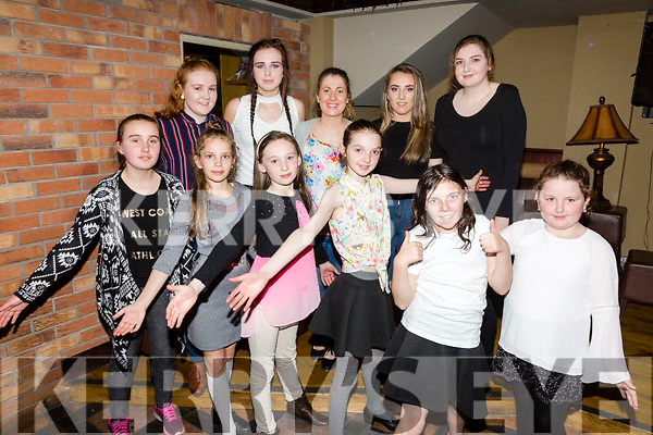 Sean Nós dancers at the Barr na Sraide concert held in the Kerry Coast Hotel on Friday night pictured front l-r; Fiona Griffin, Patricija Pudzemyte, Aoife Wharton, Clodagh Coffey, Róisín Carroll, Katelyn Kelly, back l-r; Saidbh Ní Bhraonain, Aoife Daly, Eilis Moriarty, Hazel Sugrue & Cara Coffey.