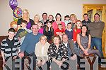 DOUBLE: Sisters celebrated their 60th and 59th birthday at home,Glenside The Spa, Tralee on Saturday evening with family. Front l-r: Philip Moore, Ciara?n Carmody,Eddie Lucid, Elaine Taylor(59th birthday), Lynn Lucid (60th birthday), Gordan Clarkson and Katie Lucid. Back l-r: Sheila Quinlan, Patricia Lucid, Kerry Ann Moore, William and Shannon Quinlan, Katelyn Moore, Ann and Ava Quinsey, Angelina Moore, Ben Quinsey, Angelina Lucid, Caoimhe and Mike Carmody and Arnie Quinsey. .................. . ............................... ..........