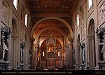 Nave Borromini Niches Statues of Apostles Baldachino Apse St John in Lateran Rome