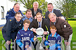 Pictured at the launch of the 6th annual GArda blitz which will be held in Fitzgerald Stadium, Killarney on June 17th were Stephen McCarthy, Michael Kearney, garda Paudie Twohig, garda Eddie Walsh, Darren O'Sullivan, Det. garda Pat Kelleher, Sgt Leo Randles,  Diarmuid Murphy and Tom Spillane.